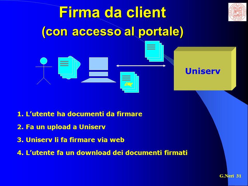 G.Neri 31 Firma da client (con accesso al portale) Uniserv 1.