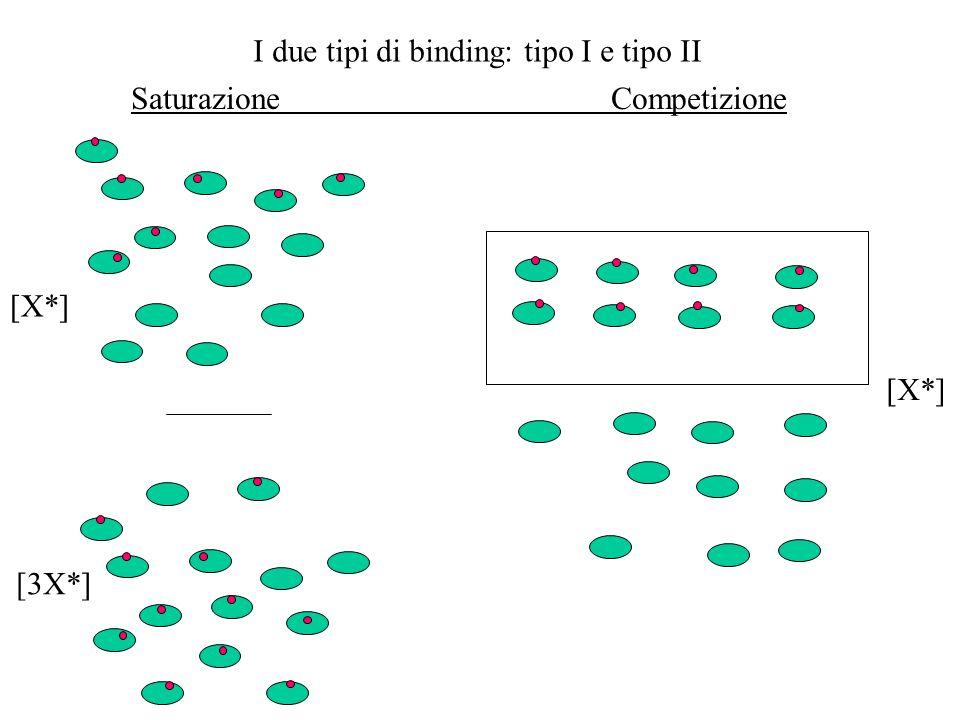 I due tipi di binding: tipo I e tipo II SaturazioneCompetizione [X*] [3X*] [X*]
