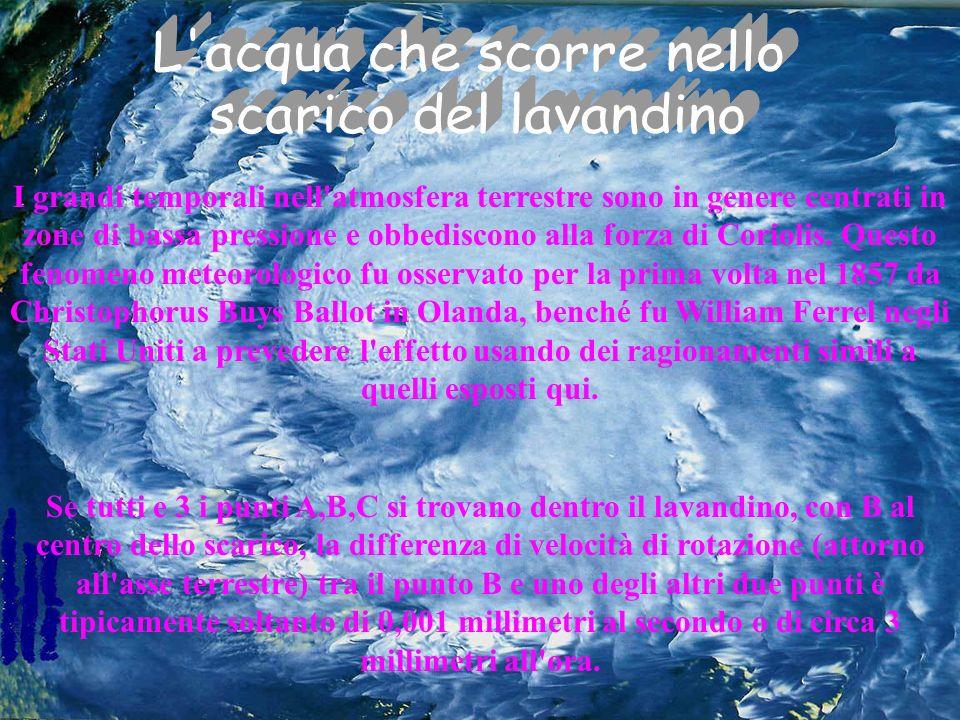 I grandi temporali nell'atmosfera terrestre sono in genere centrati in zone di bassa pressione e obbediscono alla forza di Coriolis. Questo fenomeno m