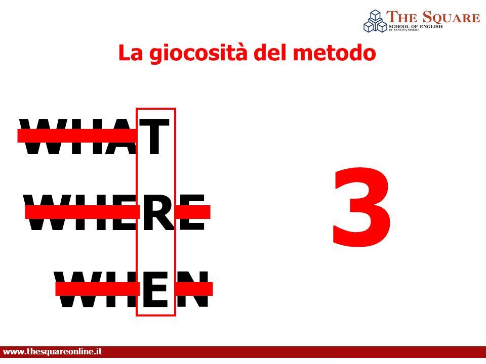 WHAT WHE E R N La giocosità del metodo 3 www.thesquareonline.it