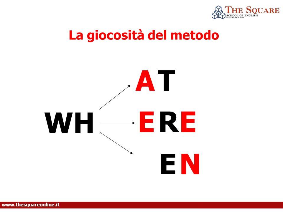 AT WH ER EN La giocosità del metodo E www.thesquareonline.it