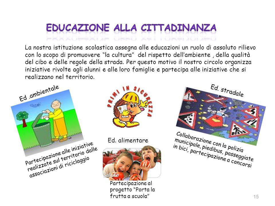 La nostra istituzione scolastica assegna alle educazioni un ruolo di assoluto rilievo con lo scopo di promuovere la cultura del rispetto dellambiente,