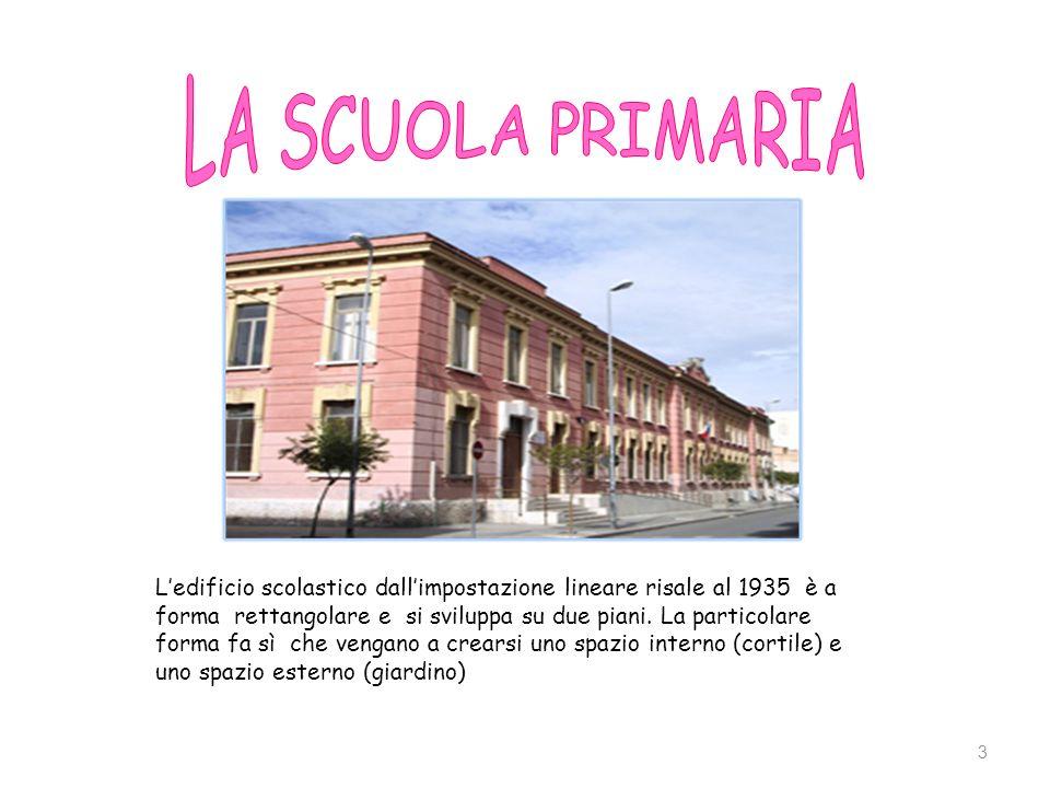 3 Ledificio scolastico dallimpostazione lineare risale al 1935 è a forma rettangolare e si sviluppa su due piani. La particolare forma fa sì che venga