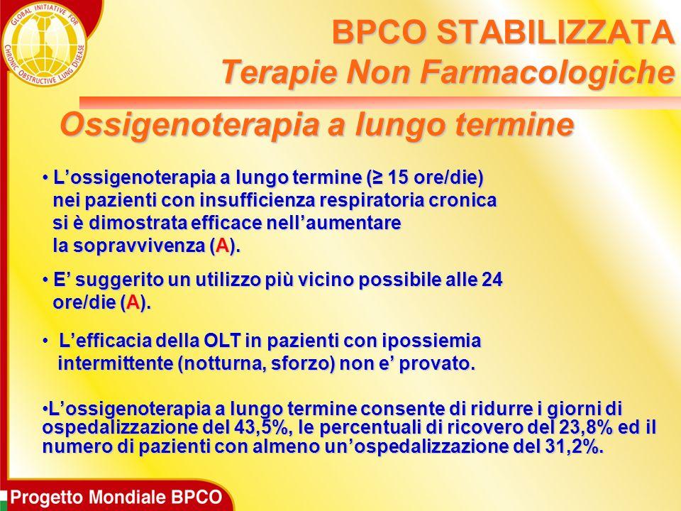 Lossigenoterapia a lungo termine ( 15 ore/die) Lossigenoterapia a lungo termine ( 15 ore/die) nei pazienti con insufficienza respiratoria cronica nei