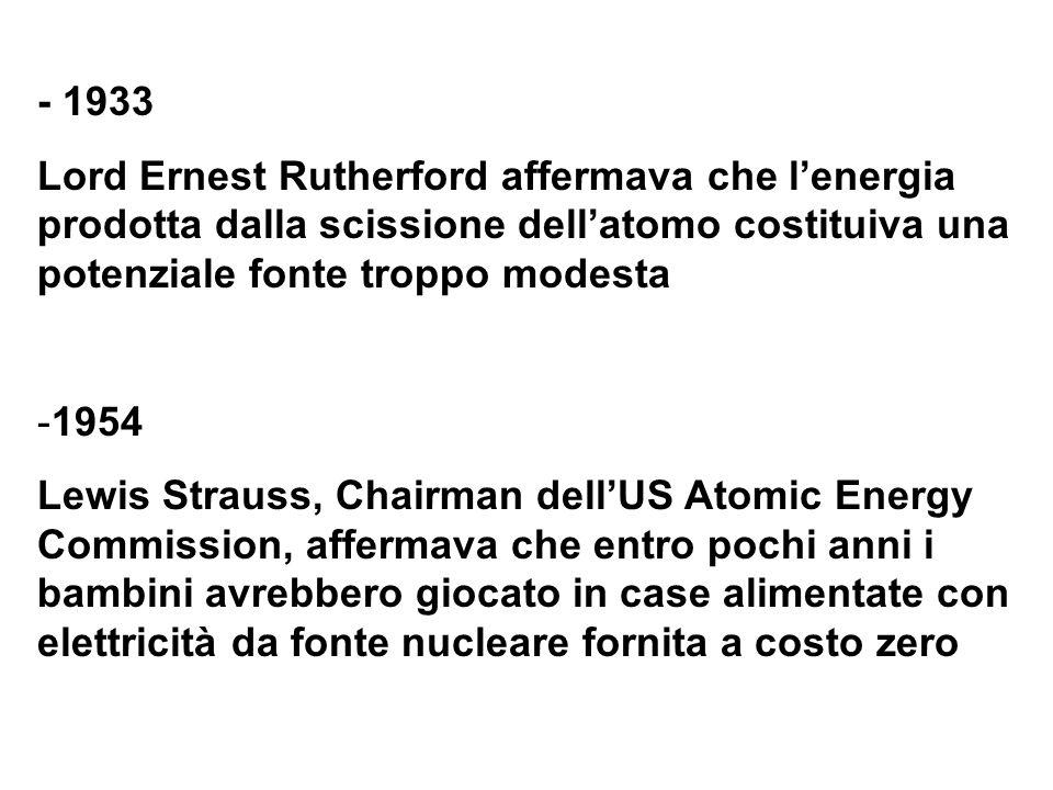 Fonte: IAEA, 50 years of nuclear energy