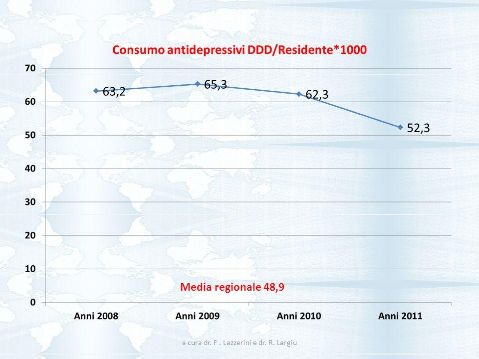 Media regionale 48,9 a cura dr. F. Lazzerini e dr. R. Largiu