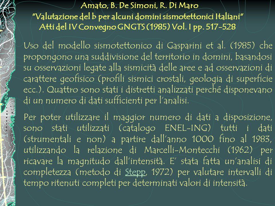 Amato, B. De Simoni, R. Di Maro
