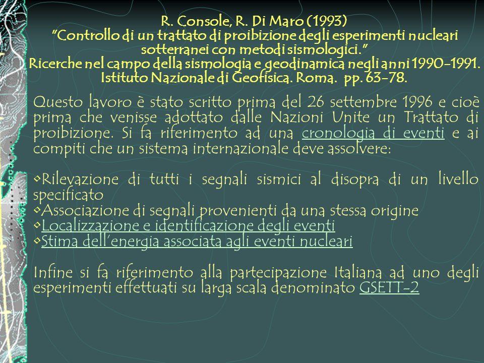 R. Console, R. Di Maro (1993)