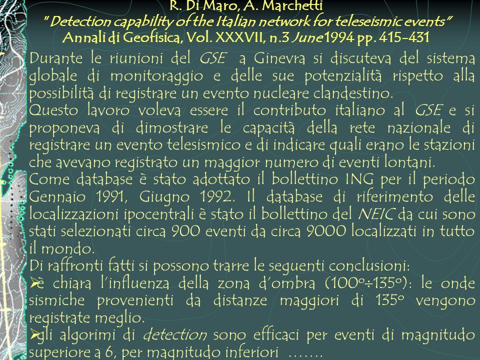 R. Di Maro, A. Marchetti