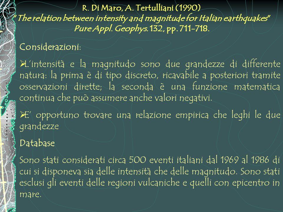 R. Di Maro, A. Tertulliani (1990)