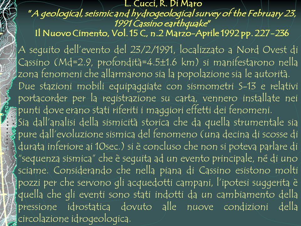 L. Cucci, R. Di Maro