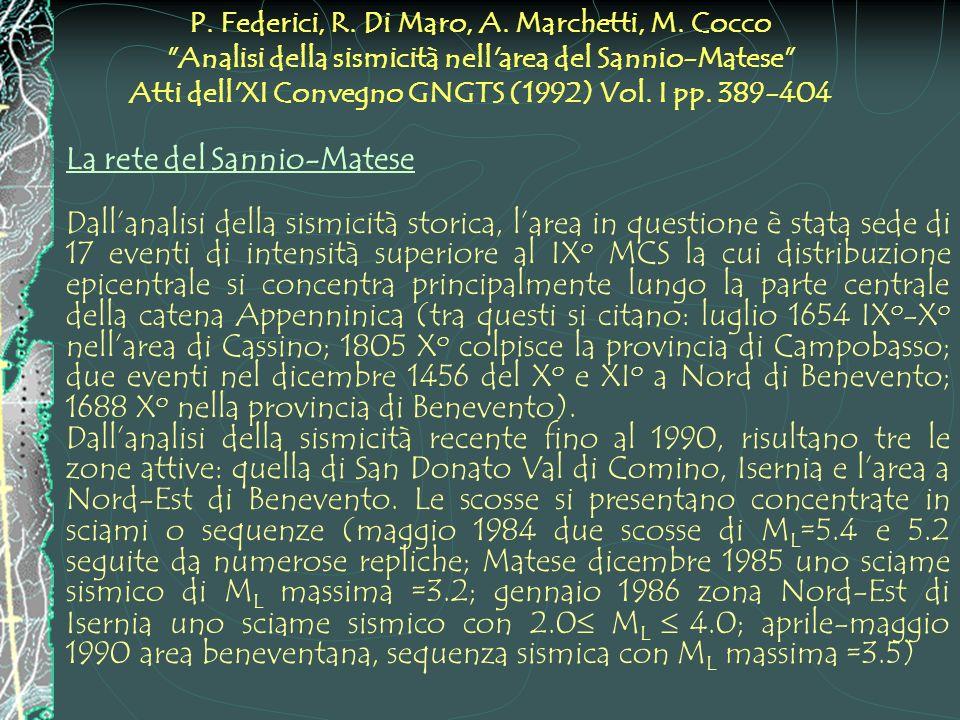 P. Federici, R. Di Maro, A. Marchetti, M. Cocco