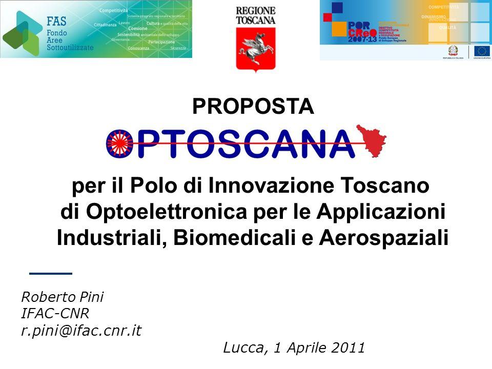 PROPOSTA per il Polo di Innovazione Toscano di Optoelettronica per le Applicazioni Industriali, Biomedicali e Aerospaziali Roberto Pini IFAC-CNR r.pin