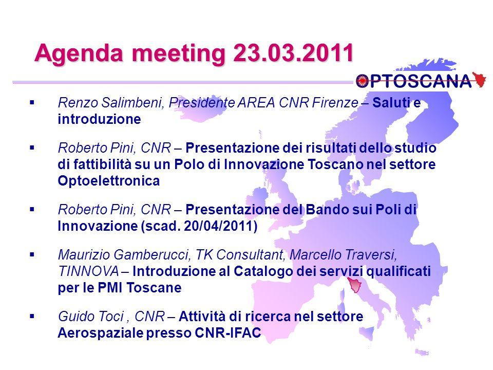 Renzo Salimbeni, Presidente AREA CNR Firenze – Saluti e introduzione Roberto Pini, CNR – Presentazione dei risultati dello studio di fattibilità su un