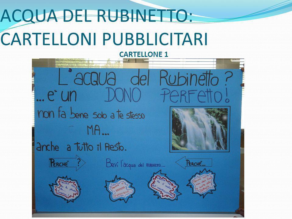 ACQUA DEL RUBINETTO: CARTELLONI PUBBLICITARI CARTELLONE 1