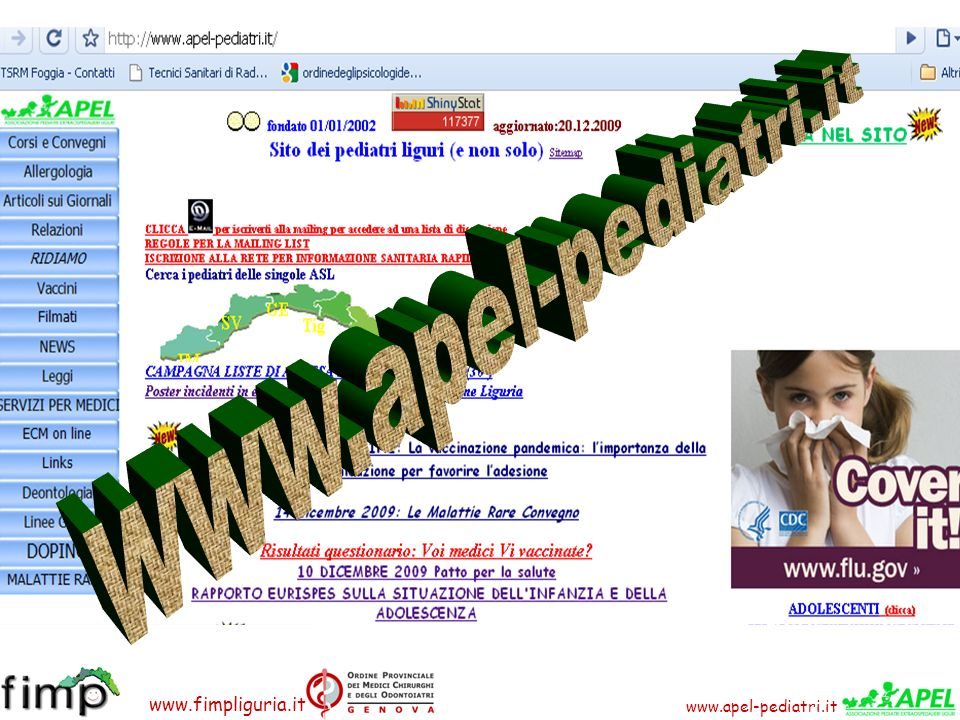 www.fimpliguria.it FONDAMENTALE: Essere informati per poter informare 1.Informazione dei medici