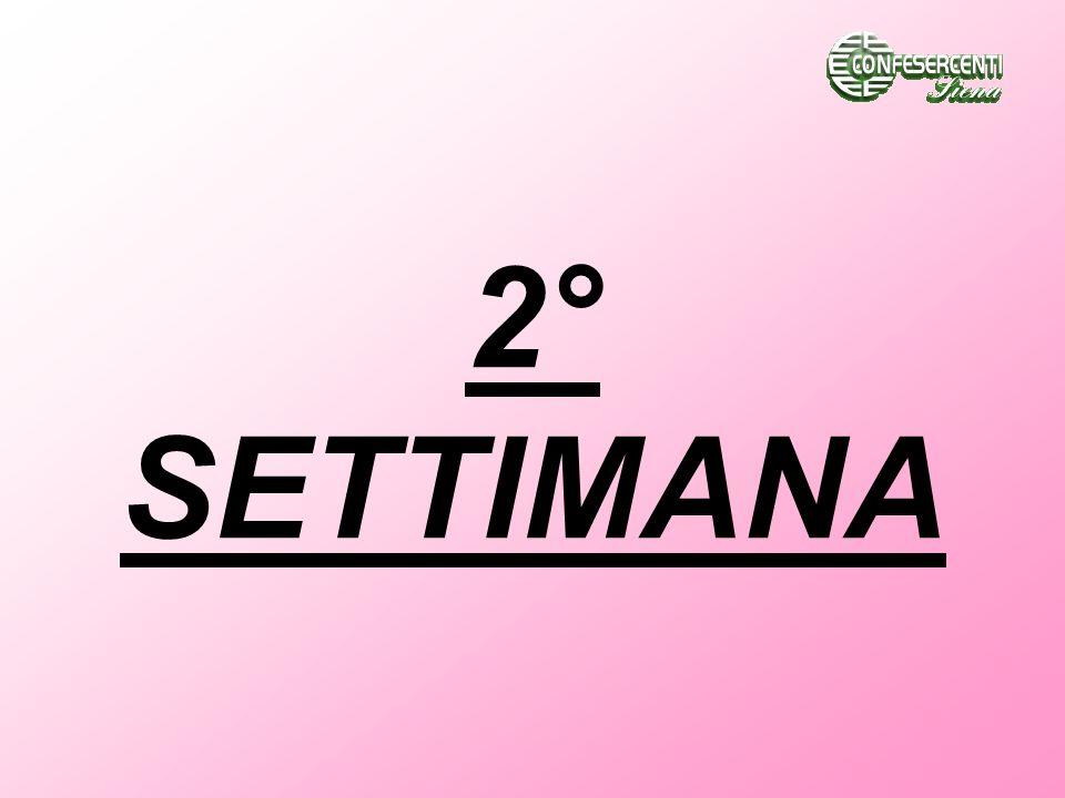 2° SETTIMANA