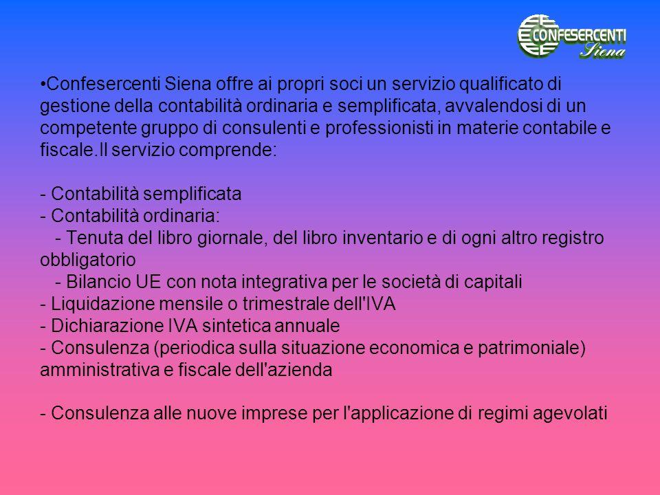 Confesercenti Siena offre ai propri soci un servizio qualificato di gestione della contabilità ordinaria e semplificata, avvalendosi di un competente