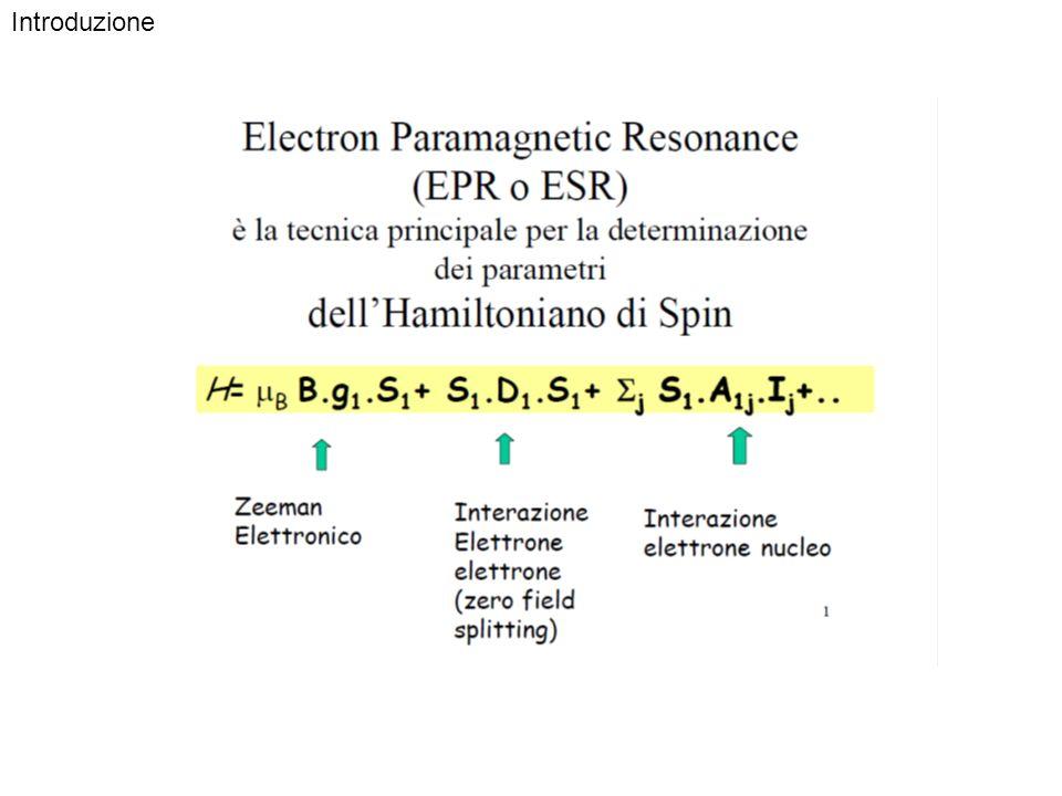 Gli stati a e b in un campo magnetico B 0 mostrano una differenza di energia che dipende linearmente da g (2.0023 vale per un elettrone libero) e dal valore di B 0