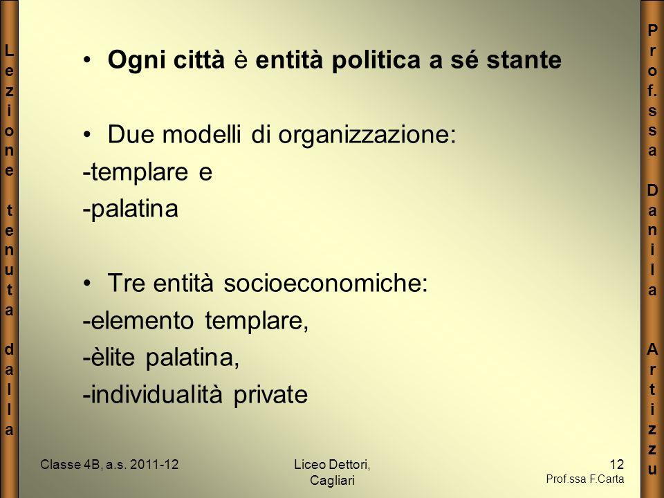 LezionetenutadallaLezionetenutadalla P r o f. s a D a n i l a A r t i z u Classe 4B, a.s. 2011-12Liceo Dettori, Cagliari 12 Prof.ssa F.Carta Ogni citt