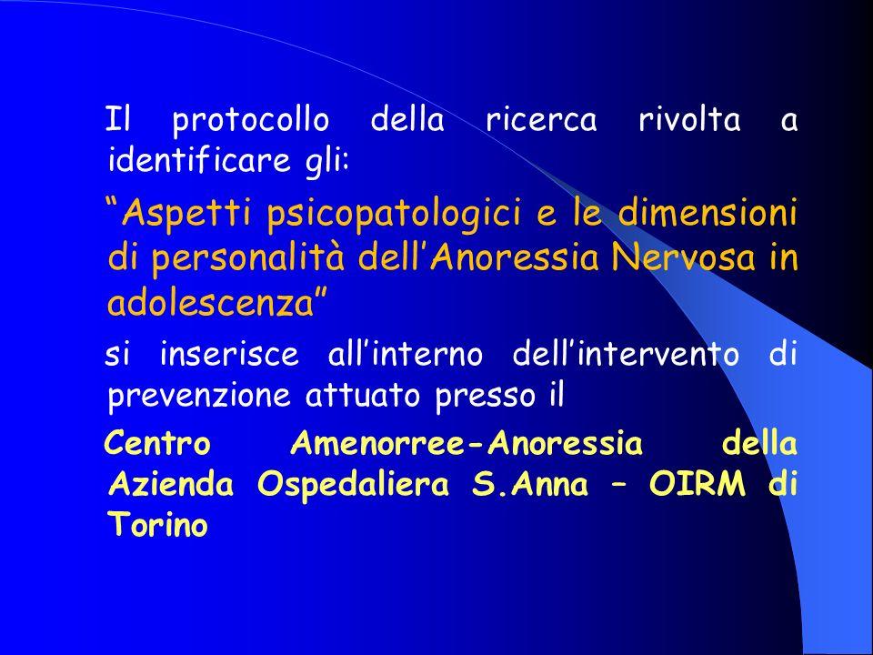 Centro Anoressia-Amenorrea dellASO Centro Anoressia-Amenorrea dellASO OIRM-Sant Anna Il Centro nasce dal coordinamento tra lASO OIRM S.