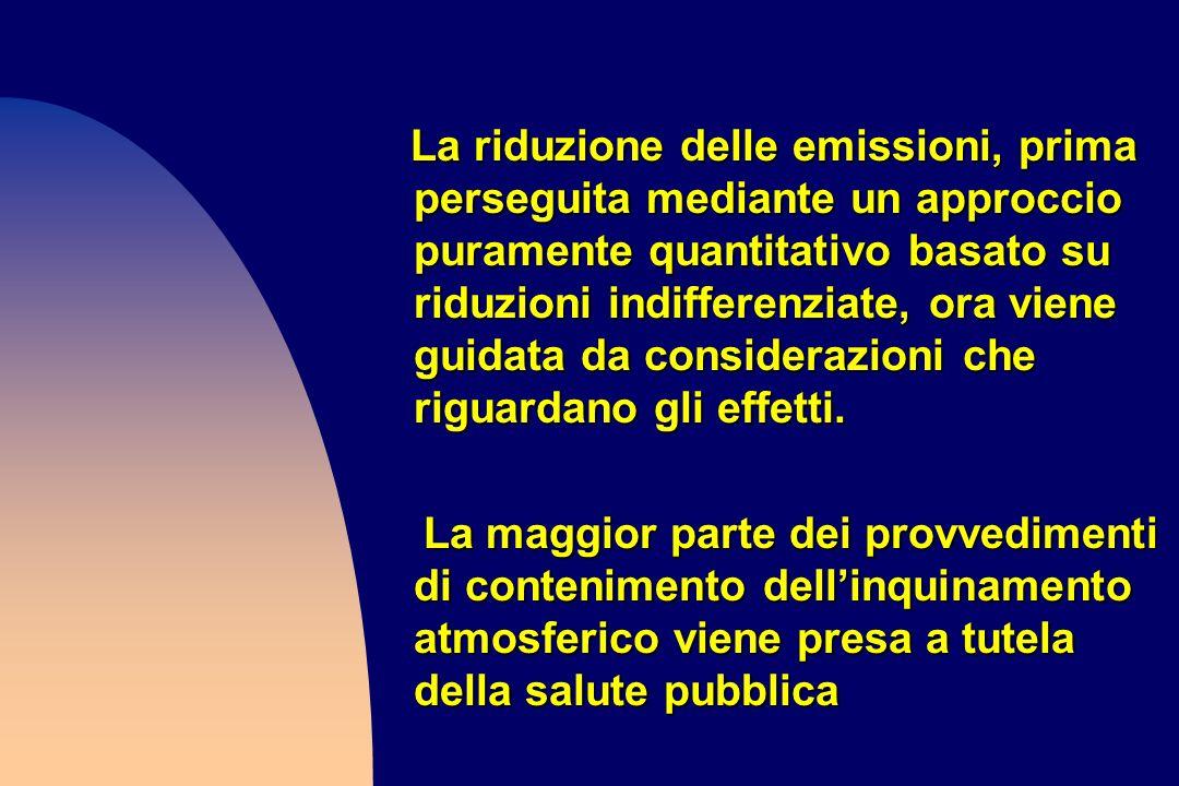 La riduzione delle emissioni, prima perseguita mediante un approccio puramente quantitativo basato su riduzioni indifferenziate, ora viene guidata da