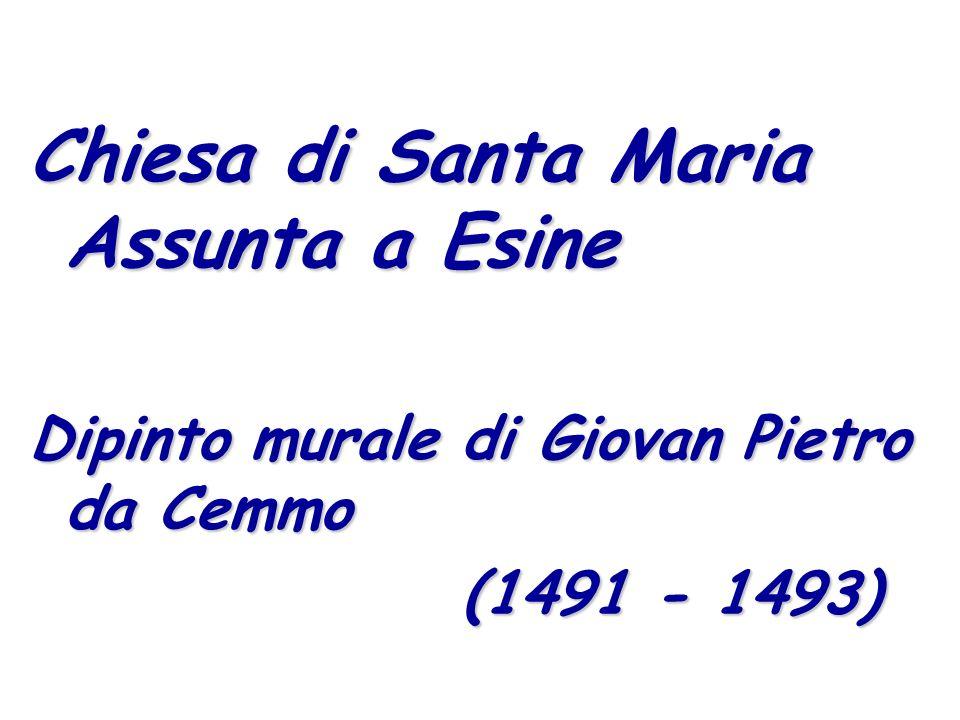 Chiesa di Santa Maria Assunta a Esine Dipinto murale di Giovan Pietro da Cemmo (1491 - 1493) (1491 - 1493)