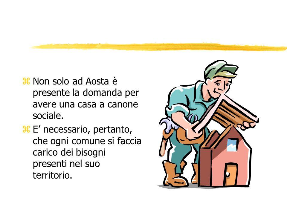 zNon solo ad Aosta è presente la domanda per avere una casa a canone sociale.