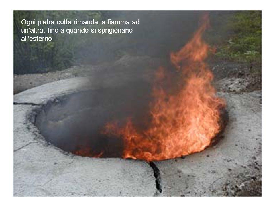 Ogni pietra cotta rimanda la fiamma ad unaltra, fino a quando si sprigionano allesterno