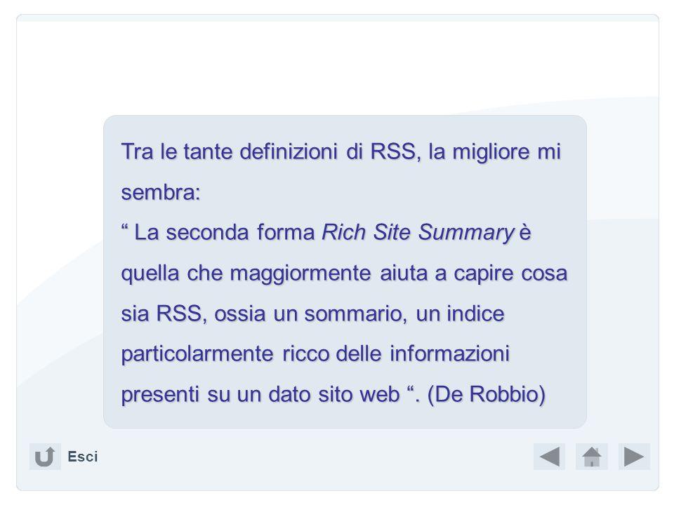 Esci RSS feeds