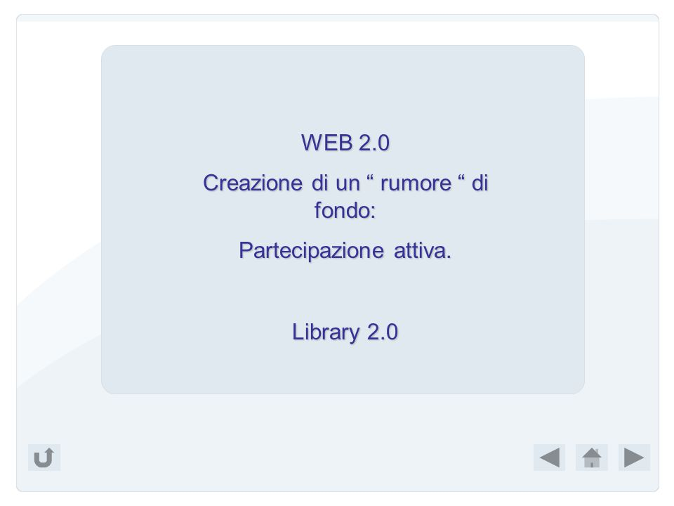 Esci Per saperne di più: http://www.sspnet.org/documents/255_S haw.ppt http://www.sspnet.org/documents/255_S haw.ppt http://www.rss4lib.com/ http://www.jisc.ac.uk/whatwedo/program mes/programme_users_and_innovation/t ictocs.aspx http://www.jisc.ac.uk/whatwedo/program mes/programme_users_and_innovation/t ictocs.aspx