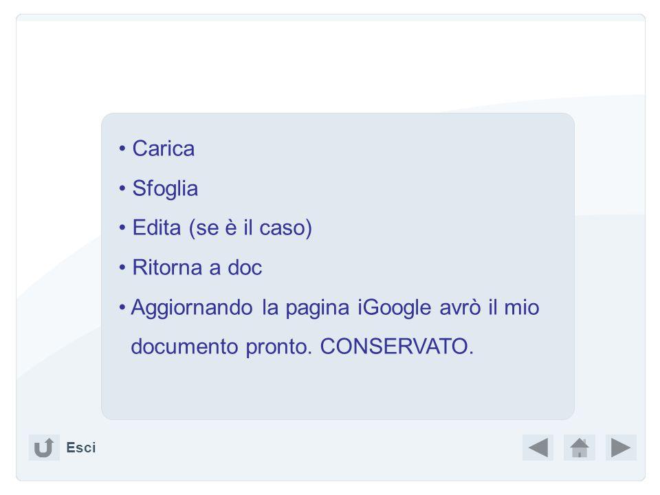 Mettendo nel search box – GOOGLE : Google Docs Permette di importare i propri file, editarli, crearne di nuovi, senza più passare per le proprie carte