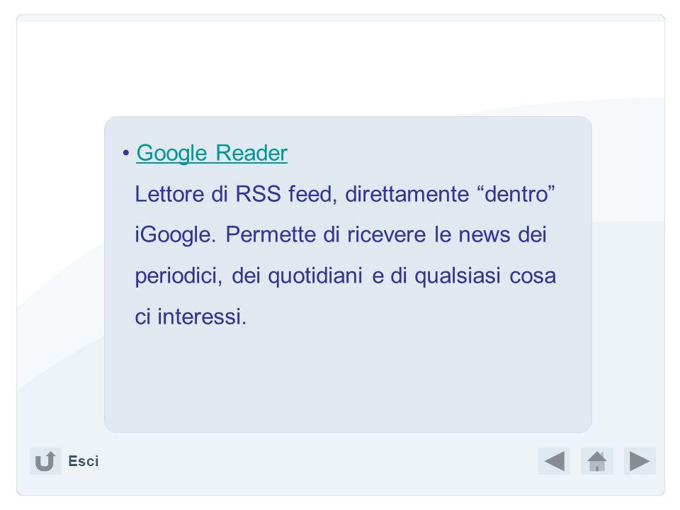 Carica Sfoglia Edita (se è il caso) Ritorna a doc Aggiornando la pagina iGoogle avrò il mio documento pronto. CONSERVATO. Esci