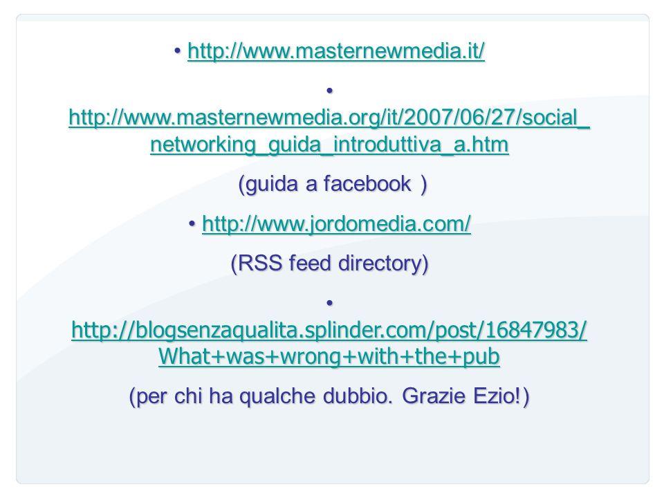 Bibliografia & web http://bonariabiancu.wordpress.com/2007/05/20/finalme nte-library-20/ http://bonariabiancu.wordpress.com/2007/05/20/finalme nte-lib