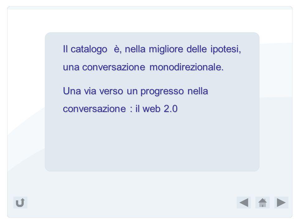 Il catalogo è, nella migliore delle ipotesi, una conversazione monodirezionale.