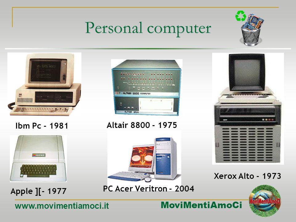 MoviMentiAmoCi www.movimentiamoci.it Computer Portatili Un laptop (spesso chiamato anche notebook) è un computer portatile progettato per poter essere