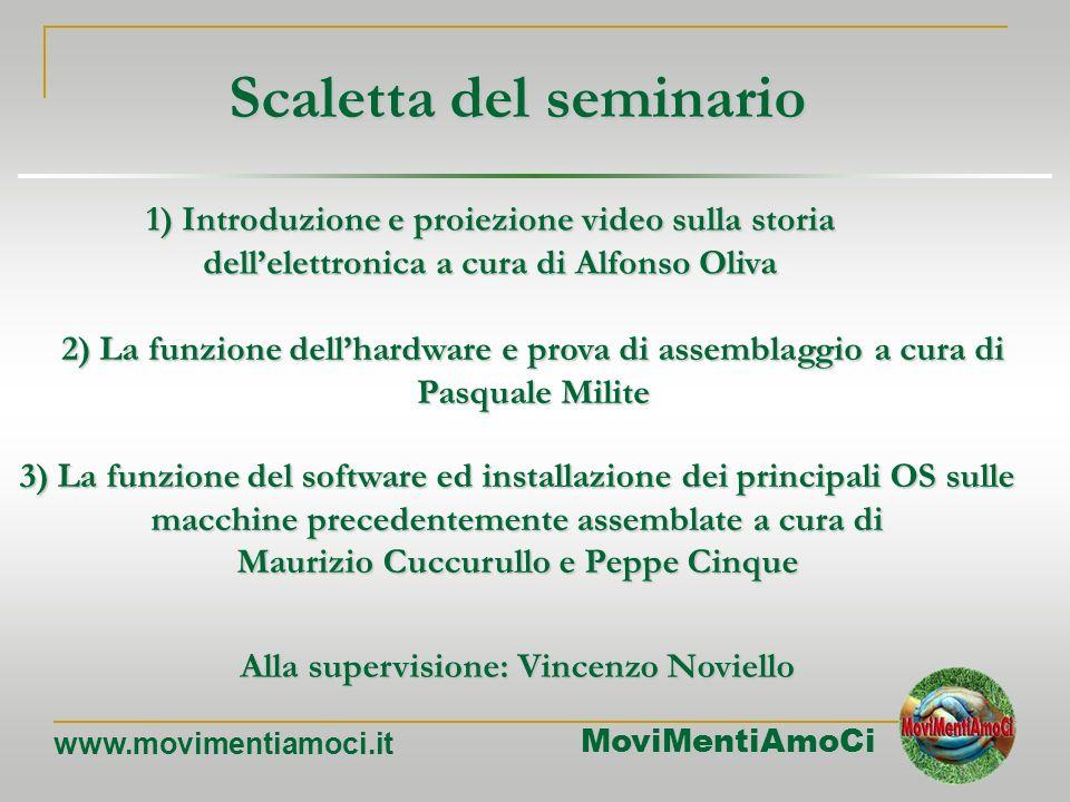 MoviMentiAmoCi www.movimentiamoci.it Trashware e riciclo informatico Seminario Divulgativo a cura di MoviMentiAmoCi