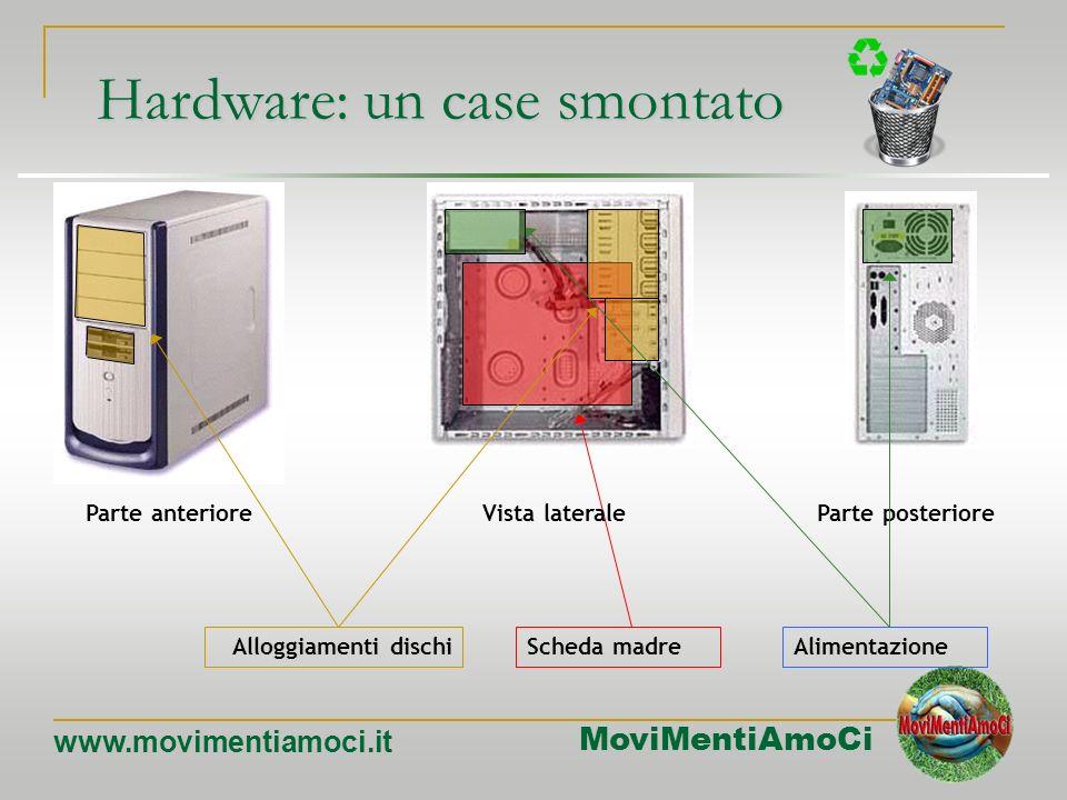 MoviMentiAmoCi www.movimentiamoci.it Hardware: esempi di case PowerMac G4 Silicon Graphics Tezro Case generico per Pc Il case (o cabinet) è il conteni