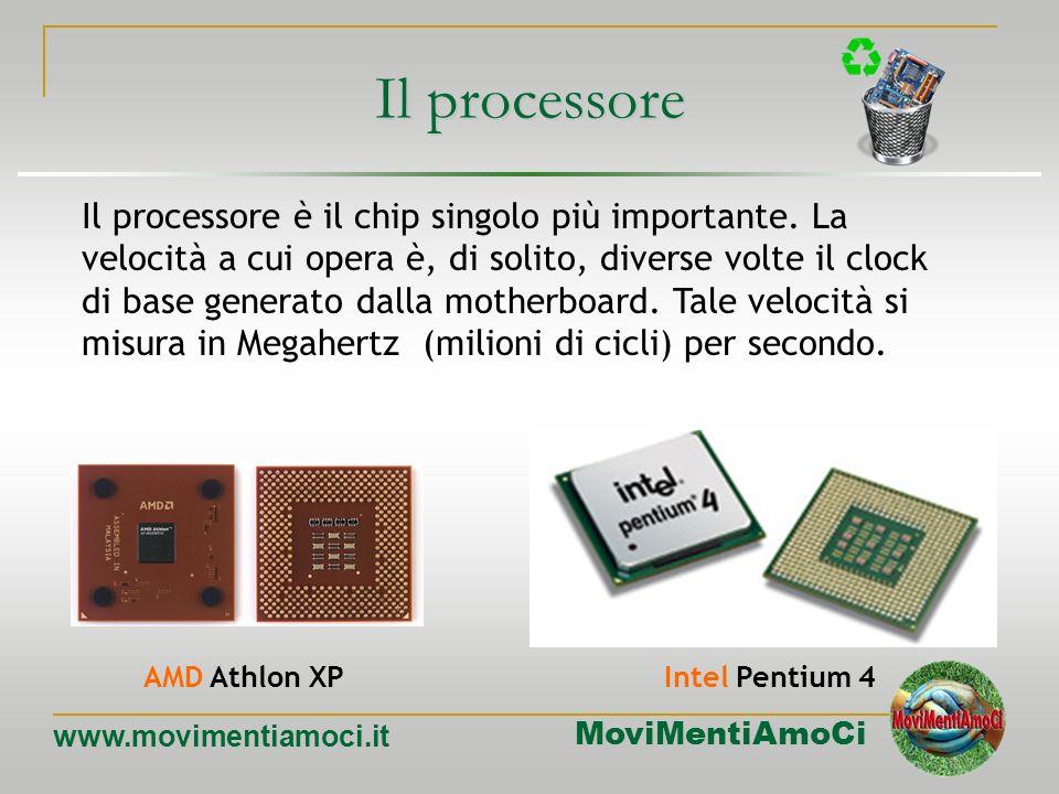 MoviMentiAmoCi www.movimentiamoci.it Il clock diversi Componenti diversi del computer sono sincronizzati in base a clock diversi. clock principale Sul