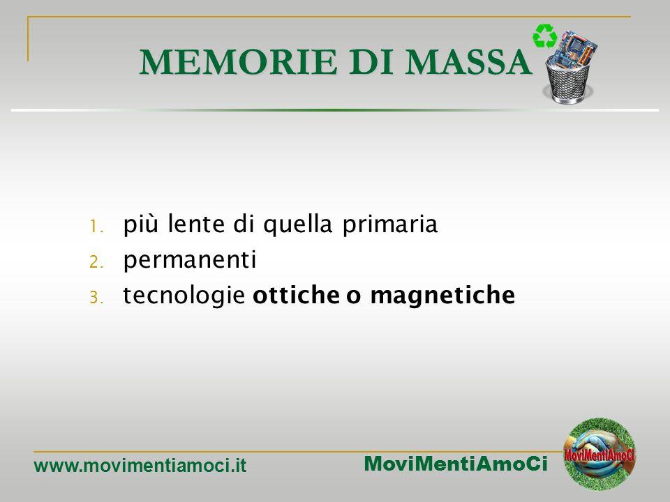MoviMentiAmoCi www.movimentiamoci.it MEMORIA CACHE La memoria cache: è un tipo di memoria velocissimo nel reperimento e nella memorizzazione dati, col