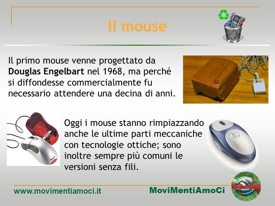 MoviMentiAmoCi www.movimentiamoci.it Input: dispositivi di puntamento Con la diffusione di interfacce utente grafiche (MacOS, Windows, ecc.) sono stat
