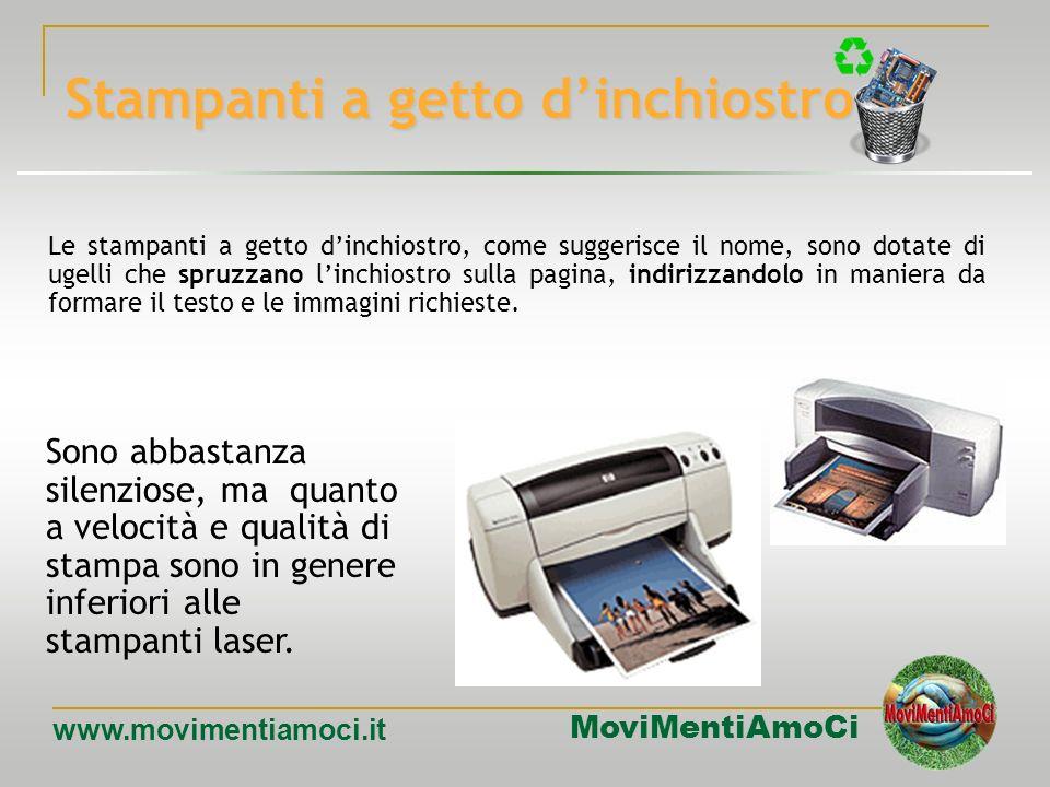 MoviMentiAmoCi www.movimentiamoci.it Stampanti a trasferimento termico Le stampanti a trasferimento termico possono stampare solo su carta speciale, m
