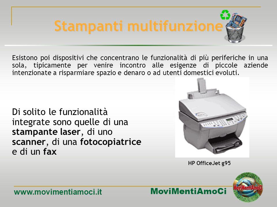 MoviMentiAmoCi www.movimentiamoci.it Stampanti laser Utilizzano una tecnologia simile a quella delle fotocopiatrici: un laser crea unimmagine della pa