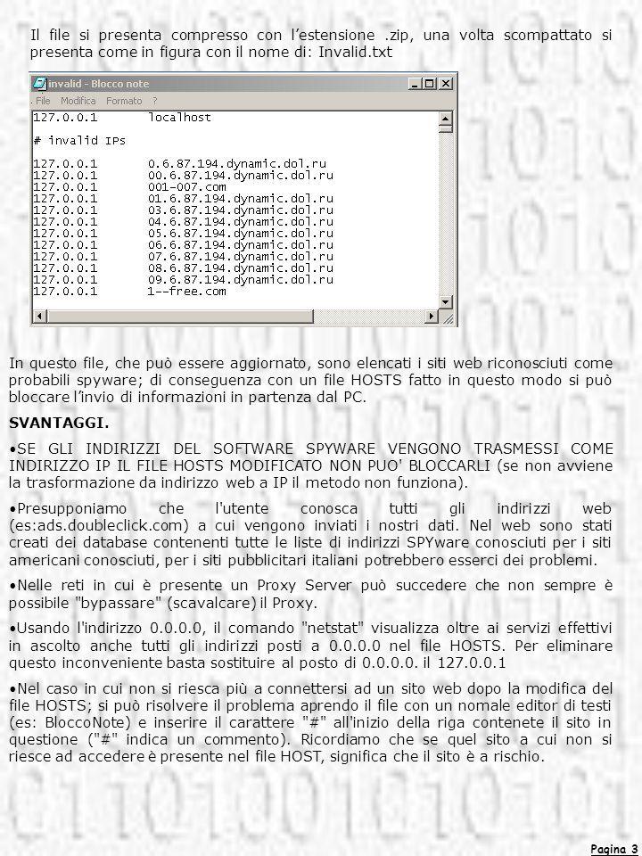 Pagina 3 Il file si presenta compresso con lestensione.zip, una volta scompattato si presenta come in figura con il nome di: Invalid.txt In questo fil