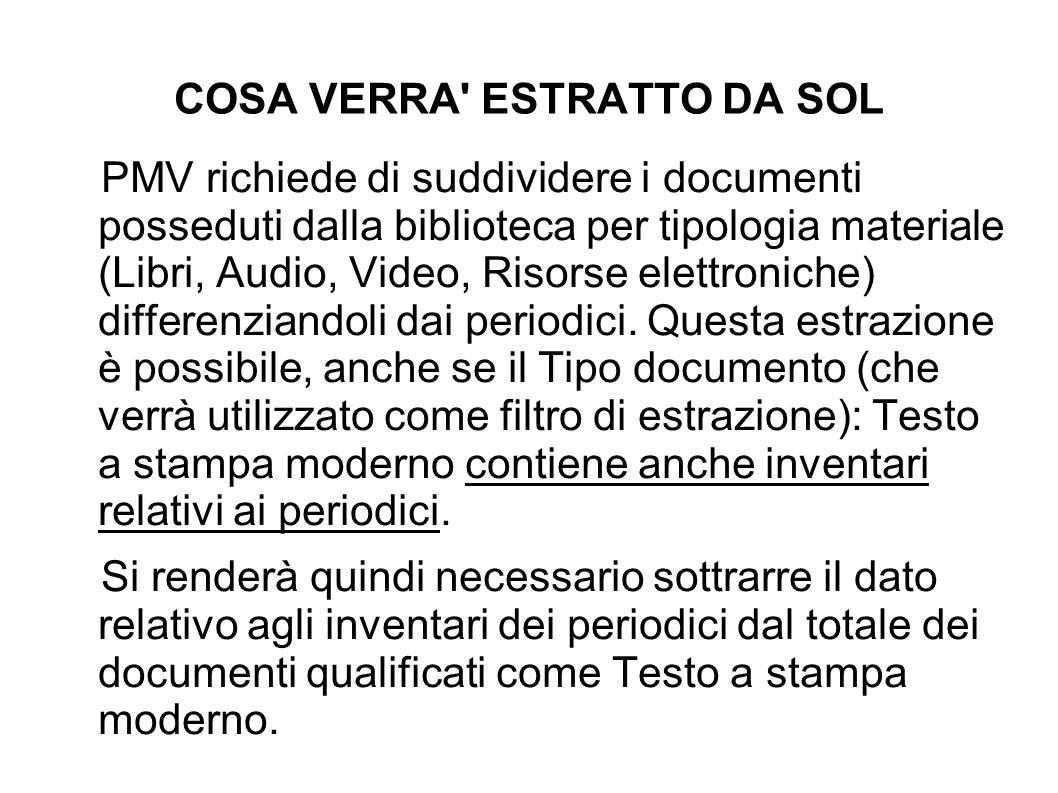 TIPO MATERIALE (AI FINI PMV) Video: - DVD: - Videocassetta Audio: - Compact disc - Risorsa elettronica