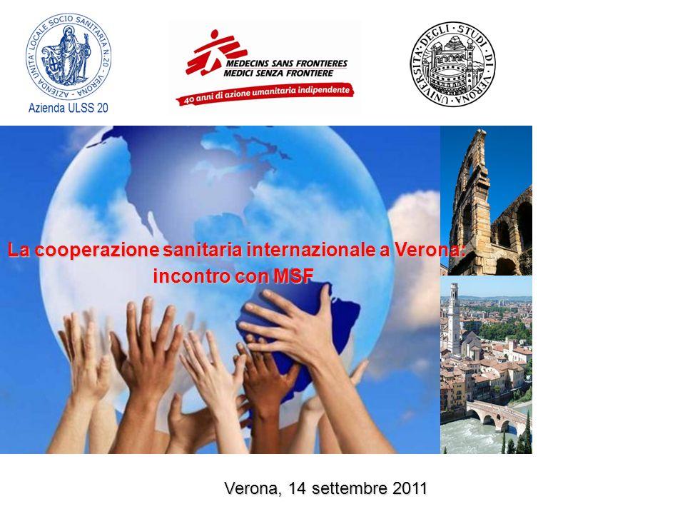 La cooperazione sanitaria internazionale a Verona: incontro con MSF Verona, 14 settembre 2011