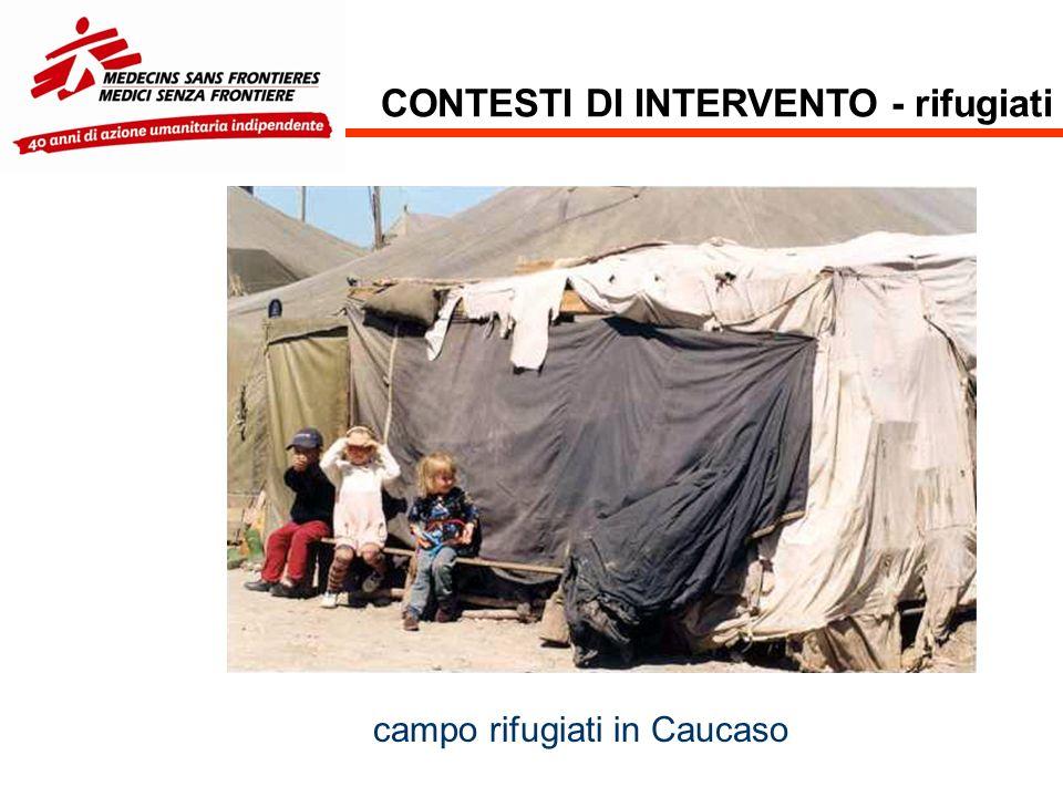 CONTESTI DI INTERVENTO - rifugiati campo rifugiati in Caucaso