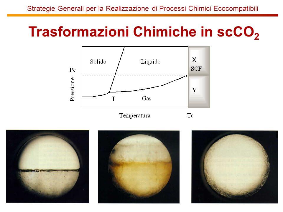 Strategie Generali per la Realizzazione di Processi Chimici Ecocompatibili Trasformazioni Chimiche in scCO 2