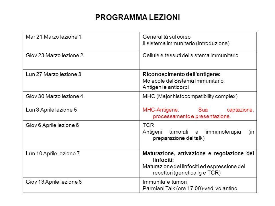PROCESSAZIONE E PRESENTAZIONE Ag VIA MHC-I