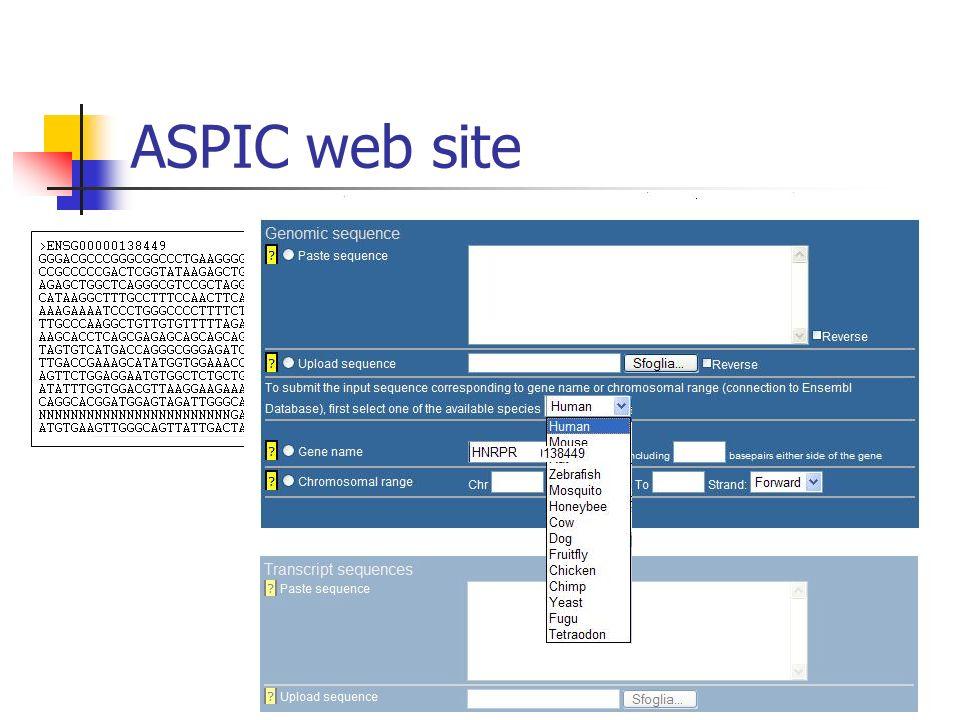 ASPIC web site